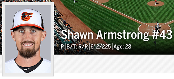 Shawn Armstrong added to Orioles active roster